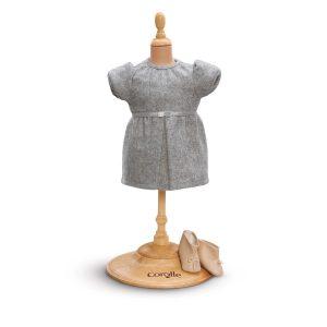 Set Kleid grau mit Stiefel