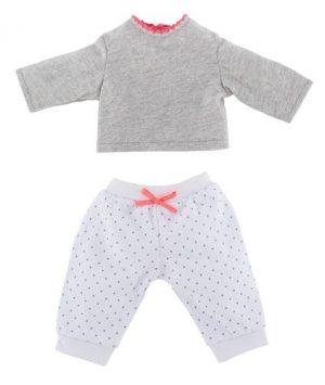 Pyjama grau/weiß