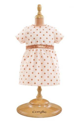 Kleid gold gepunktet