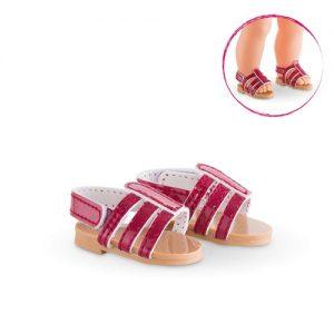 Sandalen kirschfarben
