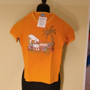 Hello Kitty Tshirt S orange SUNSET