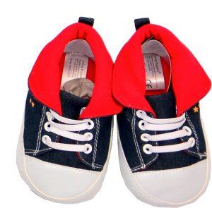 Schuhe blau/rot