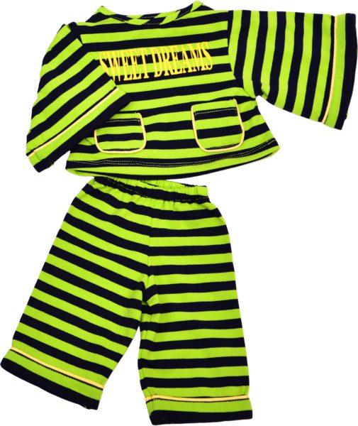 Pyjama grün/schwarz
