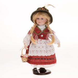 Porzellan-Trachtenpuppe Mädchen