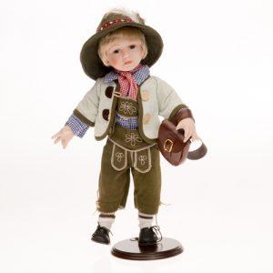Porzellan-Trachtenpuppe Junge