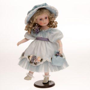 Porzellan-Puppe türkis
