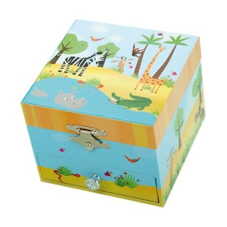 Spieluhr Schmuckbox Dschungel