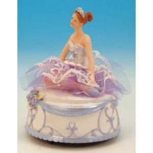 Spieluhr Ballerina silber