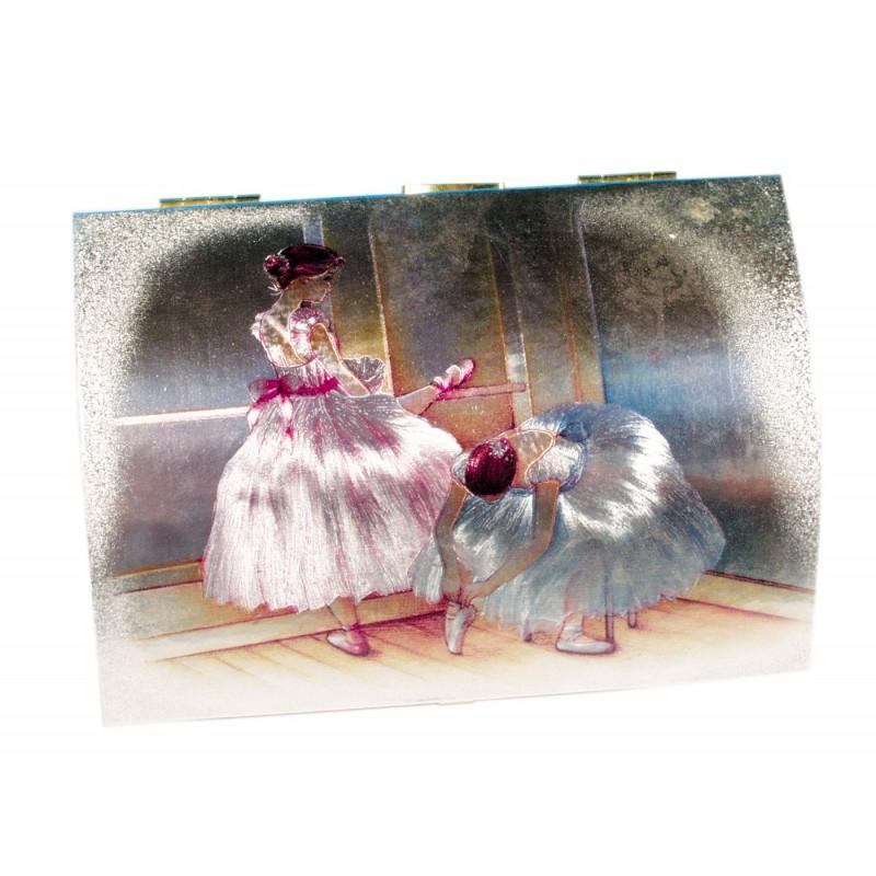 Spieluhr Truhenform mit Ballettszene