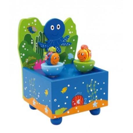 Holz Spieluhr Tanzendes Aquarium