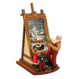 Spieluhr malender Santa klein