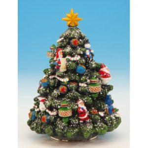 Spieluhr geschmückter Weihnachtsbaum